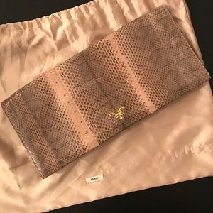 Prada snake-skin clutch